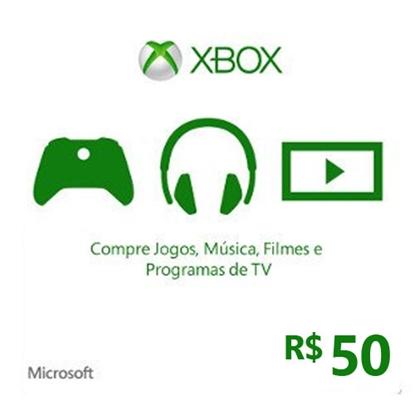 Imagem de CARTÃO XBOX LIVE R$ 50,00