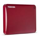 Imagem de HD EXTERNO TOSHIBA 1TB CANVIO CONNECT II V8 USB 3.0 - VERMELHO
