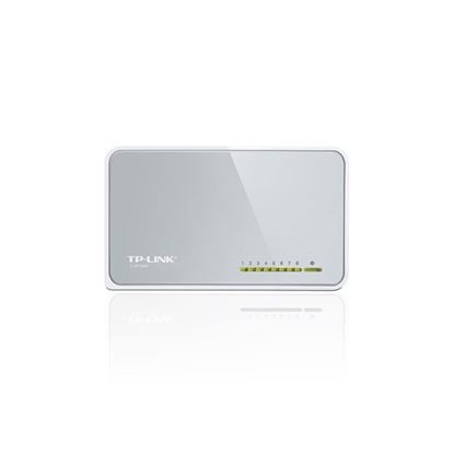 Imagem de SWITCH 8 PORTAS TIPO DESKTOP, LAN 10/100 ETHERNET - TL-SF1008D