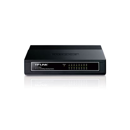 Imagem de SWITCH TP-LINK 16 PORTAS TIPO DESKTOP 10/100 ETHERNET - TL-SF1016D