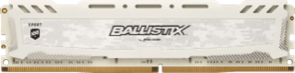 Imagem de MEMORIA DESKTOP BALLISTIX SPORT 8GB - DDR4 2400 MHZ - CL16 - PC419200 - UDIMM - SINGLE RANK - BRANCA- MICRON