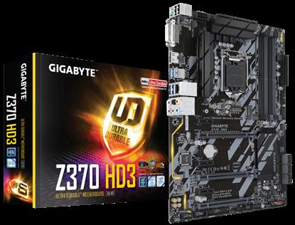 Imagem de MOTHERBOARD P/ INTEL LGA 1151 8ª GERAÇÃO - Z370 HD3 DDR4 64GB