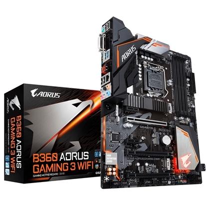 Imagem de MB P/INTEL, LGA1151 8ª GERAÇÃO, CHIPSET B360, 64GB, 4 DDR4, ATX - B360 AORUS GAMING 3