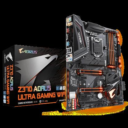 Imagem de MOTHERBOARD P/ INTEL, LGA1151 8ª GERAÇÃO, CHIPSET Z370, 64MB, DDR4, 2PCI-E X16, 1 HDMI, USB, ATX - Z370 AORUS ULTRA GAMING WIFI