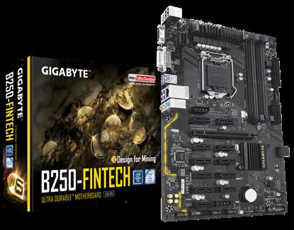Imagem de MB P/INTEL, LGA1151 7ª GERAÇÃO, CHIPSET B250, 64GB, 4 DDR4, ATX - GA-B250-FIN TECH