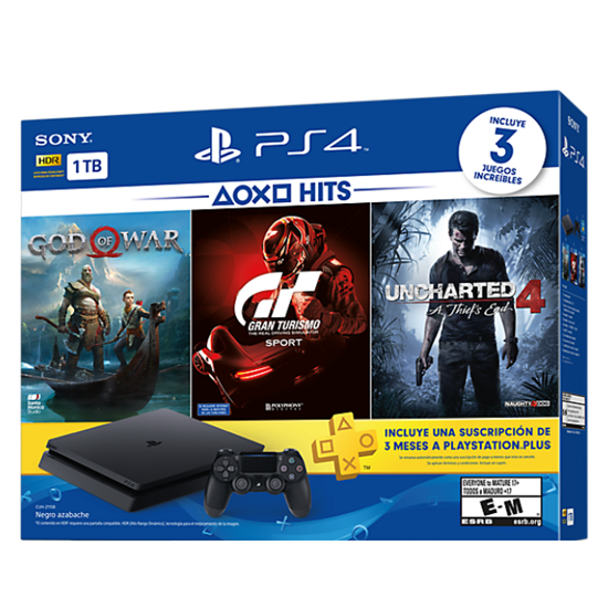 Picture of PLAYSTATION 4 BUNDLE HITS 3 1TB [GOD OF WAR, GT SPORT, UNCHARTED 4]