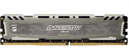 Imagem de MEMORIA BALLISTIX SPORT LT GREY 8GB DDR4 2666 MT/S [PC4-21300] CL16 SR x8 Unbuffered DIMM 288pin
