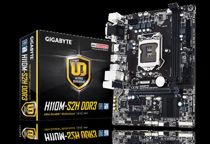 Imagem de MOTHERBOARD P/ INTEL I7, I5, I3, CHIPSET H110, LGA 1151, DDR3 - GA-H110M-S2H DDR3
