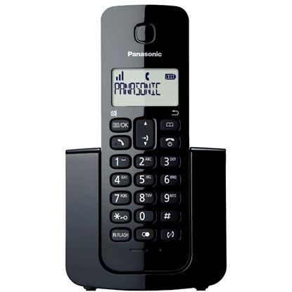 Imagem de TELEFONE FIXO PANASONIC SEM FIO PRETO COM IDENTIFICADOR - KX-TGB110LBB