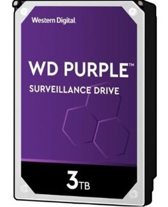 Imagem de HD WD SATA 3,5` PURPLE SURVEILLANCE 3TB INTELLIPOWER 64MB CACHE SATA 6.0GB/S  - WD30PURZ I