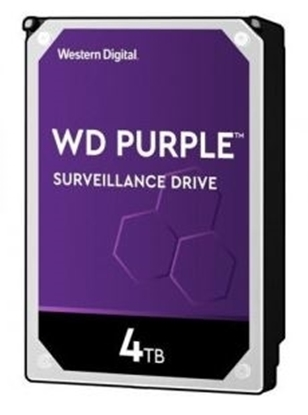 Imagem de HD WD SATA 3,5` PURPLE SURVEILLANCE 4TB INTELLIPOWER 64MB CACHE SATA 6.0GB/S  - WD40PURZ I