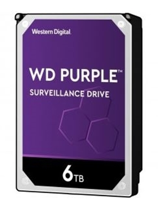Imagem de HD WD SATA 3,5` PURPLE SURVEILLANCE 6TB INTELLIPOWER 64MB CACHE SATA 6.0GB/S  - WD60PURZ I