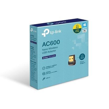 Imagem de ADAPTADOR TP-LINK USB NANO WIRELESS DUALBAND AC600 - ARCHER T2U NANO
