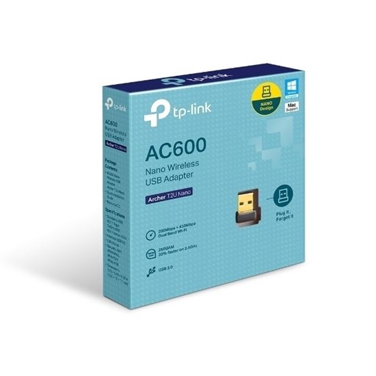 Picture of ADAPTADOR TP-LINK USB NANO WIRELESS DUALBAND AC600 - ARCHER T2U NANO