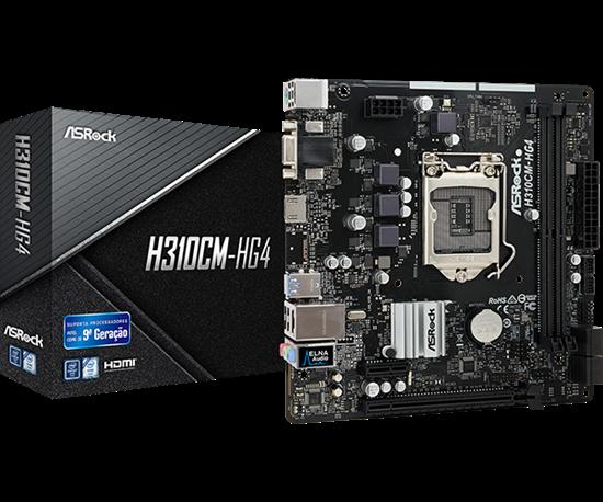 Picture of MOTHERBOARD ASROCK MOTHERBORAD ASROCK H310CM-HG4 INTEL LGA 1151 mATX DDR4