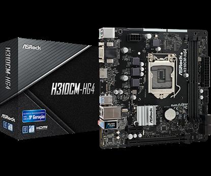 Imagem de MOTHERBOARD ASROCK MOTHERBORAD ASROCK H310CM-HG4 INTEL LGA 1151 mATX DDR4