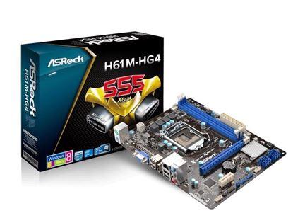 Imagem de MOTHERBOARD ASROCK H61M-HG4 DDR3 SOCKET LGA 1155 CHIPSET - H61M-HG4 1155 DDR3