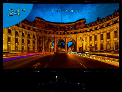 "Imagem de MONITOR SAMSUNG FULL HD 24"" CURVO C24F390F PRETO"