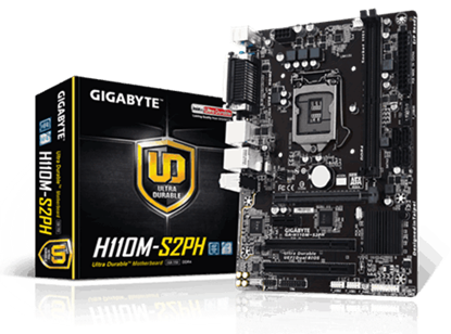 Imagem de MOTHERBOARD GIGABYTE PARA INTEL - H110 - GA-H110M-S2PH DDR4