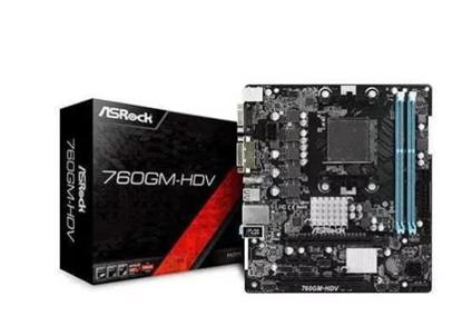 Imagem de MOTHERBORD ASROCK 760GM-HD AM3+ / AM3, 8-CORE CPU DDR3