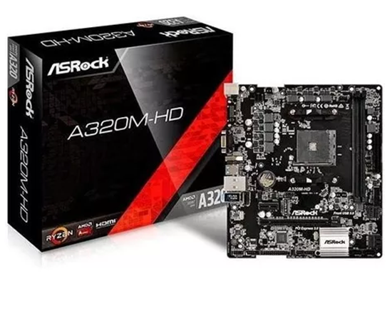 Picture of MOTHERBOARD ASROCK A320M -HD, AMD AM4, MATX, DDR4