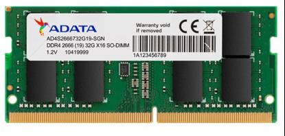 Imagem de AD4S2666732G19-SGN I         MEMORIA ADATA NOTEBOOK DDR4 2666 32GB