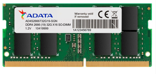 Picture of AD4S2666732G19-SGN I         MEMORIA ADATA NOTEBOOK DDR4 2666 32GB