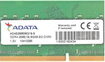 Imagem de MEMÓRIA ADATA NOTEBOOK DDR4 2666 8GB AD4S266638G19-S I