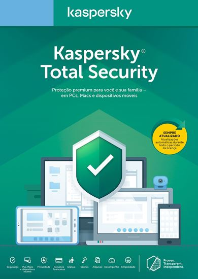 Picture of KASPERSKY TOTAL SECURITY 1 DISPOSITIVO +1 PASSWORD MANAGER +1 SAFE KIDS 2 ANOS BR DOWNLOAD