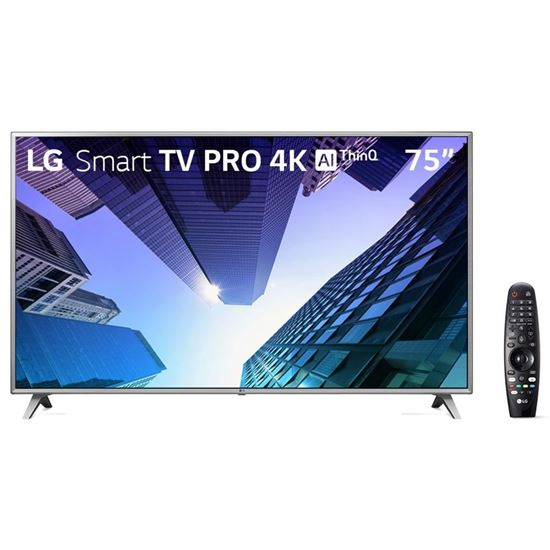 "Picture of TV LG 75"" SMART 4K TV WebOS4.5  ThinQ AI QUADE CORE COM MAGIC REMOTE"