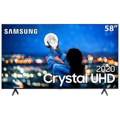 "Imagem de SMART TV SAMSUNG CRYSTAL UHD 4K TU7000 58"", BORDA ULTRAFINA, CONTROLE REMOTO UNICO, BLUETOOTH"