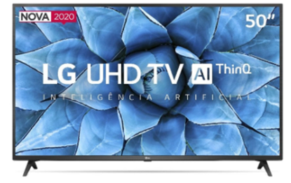"Imagem de TV LG 50"" LED QUAD CORE UHD SMART 4K 50UN731C HDMI/USB THINQ AI WEBOS GOOGLE ASSISTENTE ALEXA"