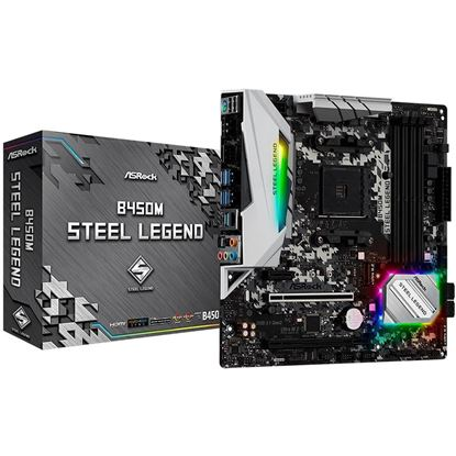 Imagem de MOTHERBOARD ASROCK B450M STEEL LEGEND  CHIPSET B450, AMD AM4, MATX, DDR4