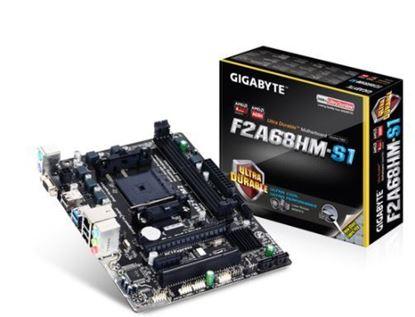 Imagem de MOTHERBOARD GIGABYTE  F2A68HM-S1  SUPORTA APU AMD SOCKET FM2 + / FM2 SERIE A, CHIPSET AMD A68H, DDR3 DIMM