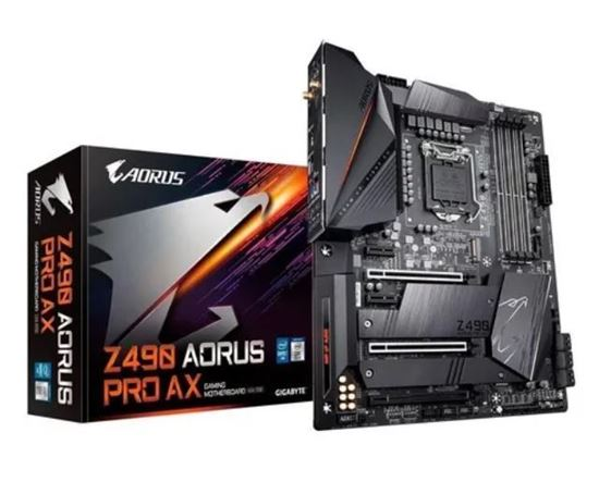 Picture of MOTHERBOARD GIGABYTE AORUS Z490 PRO AX, CHIPSET INTEL Z490 EXPRESS, LGA 1200, ATX, DDR4 - 10º GERACAO