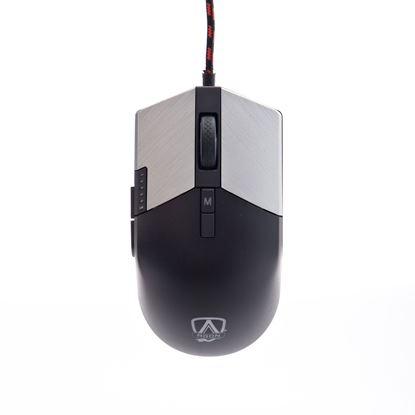 Imagem de MOUSE GAMER AOC AGON AGM700 8 BOTOES 16000DPI 400IPS RGB PRETO COM CABO