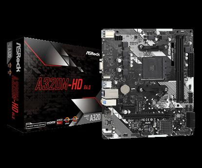 Imagem de MOTHERBOARD ASROCK A320M-HD R4.0, CHIPSET A320, AMD AM4, MATX, DDR4