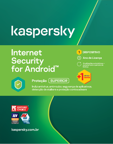 Picture of KASPERSKY INTERNET SECURITY PARA ANDROID 1 USUARIO 1 ANO BR DOWNLOAD