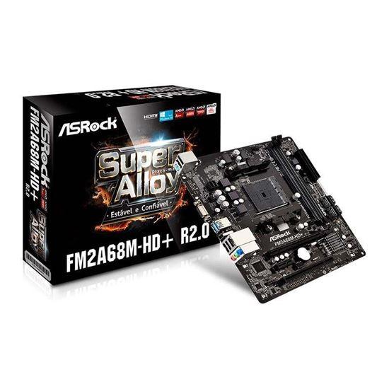 Picture of MOTHERBOARD ASROCK FM2A68M-HD+R2/CHIPSET AMD A68H [BOLTON-D2H], FM2+ 95W / FM2 100W, DDR3