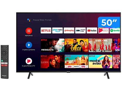 "Imagem de TV SMART PANASONIC LED 50"" 4K ULTRA HD, 3 HDMI, 2 USB, WI-FI, HDR 10 - 1 ANO DE GARANTIA"