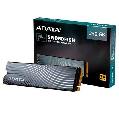 Imagem de SSD ADATA ASWORDFISH 250GB NVME M.2 PCIE COM DISSIPADOR