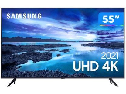 """Imagem de TV SAMSUNG SMART UHD 4K AU7700 55"""" PROC. CRYSTAL 4K TELA SEM LIMITES VISUAL LIVRE DE CABOS ALEXA COMPATIVEL CONTROLE UNICO"""