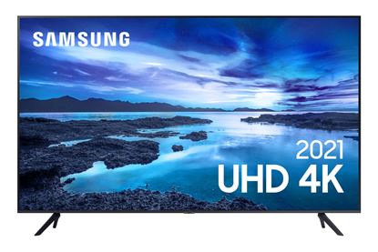 """Imagem de SMART TV SAMSUNG UHD 4K AU7700 70"""" PROC. CRYSTAL 4K, TELA SEM LIMITES, VISUAL LIVRE DE CABOS, ALEXA COMPATIVEL, CONTROLE UNICO"""